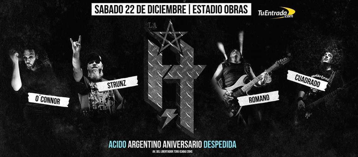 Ácido Argentino Aniversario Despedida, La H No Murió