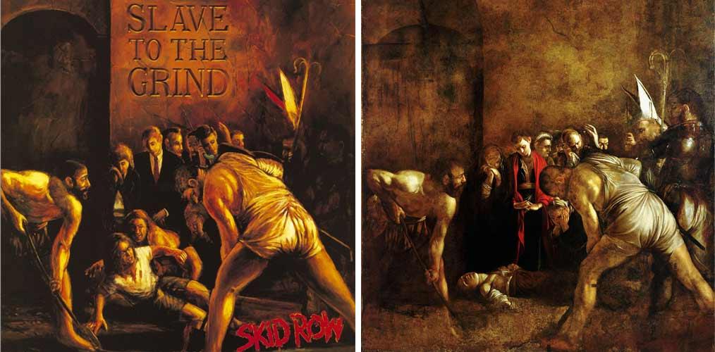 Slave To The Grind. Skid Row - El entierro de Santa Lucía, Caravaggio