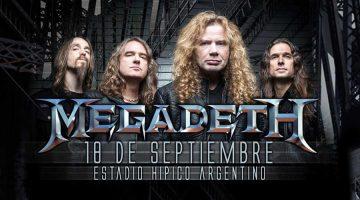 Megadeth regresa a la Argentina en septiembre