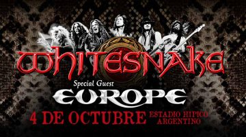 Whitesnake regresa a la Argentina junto a Europe