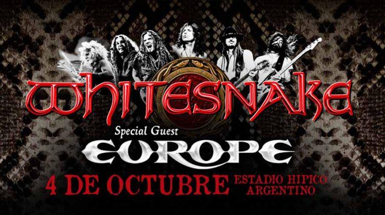 Whitesnake regresa a la Argentina junto a Europe