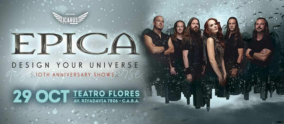 """Epica celebrá el décimo aniversario de """"Design Your Universe"""""""