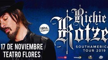 Richie Kotzen presenta su nuevo material en el Teatro Flores