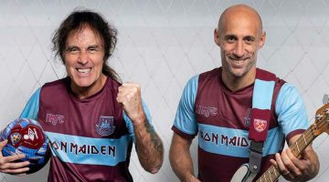 Iron Maiden colabora con el West Ham